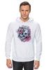 """Толстовка Wearcraft Premium унисекс """"Череп"""" - skull, череп, цветы, roses"""