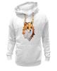"""Толстовка Wearcraft Premium унисекс """"Poly Fox"""" - fox, лиса, лисица, полигоны"""