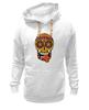 "Толстовка Wearcraft Premium унисекс ""PSYSCULL"" - череп, scull, оранжевый, orange, психоделика, оранж"