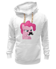"Толстовка Wearcraft Premium унисекс ""Pinkie Pie moustaches"" - mlp, my little pony, пони, friendship, пинки пай"