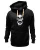"Толстовка Wearcraft Premium унисекс ""Череп"" - skull, череп, кости"