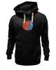 """Толстовка Wearcraft Premium унисекс """"Yin Yang"""" - yin yang, инь и янь, инь янь, орёл, тигр"""