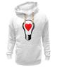 """Толстовка Wearcraft Premium унисекс """"BIG LAMP! SWITCH ON YOUR LOVE!"""" - сердце, любовь, lamp, zogs, switch on your love"""