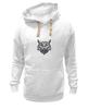 """Толстовка Wearcraft Premium унисекс """"Сова стилизация"""" - рисунок, графика, сова, чёрное и белое"""