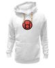 """Толстовка Wearcraft Premium унисекс """"красный фонарь"""" - comics, red, мультфильм, белый, красный, комиксы, кино, белая, мульт, dc"""