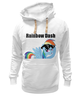 "Толстовка Wearcraft Premium унисекс ""Rainbow Dash"" - mlp, my little pony, rainbow, dash, friendship is magic, dashie, coller"