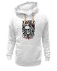 "Толстовка Wearcraft Premium унисекс ""Skull Art"" - skull, череп, mayhem, фестиваль, festival"