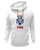 "Толстовка Wearcraft Premium унисекс ""Мопс Президент (Obey pug)"" - pug, obey, мопс, obey the pug, мопс президент"