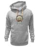 """Толстовка Wearcraft Premium унисекс """"мопс-индеец"""" - pug, индеец, перья, стрелы, мопс"""