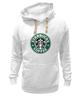 "Толстовка Wearcraft Premium унисекс ""starbucks coffee"" - зеленый, кофе, coffee, русалка, starbucks, старбакс"