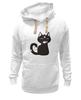"""Толстовка Wearcraft Premium унисекс """"Котенок-охотник"""" - кот, арт, котенок, рисунок, охота"""