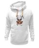 """Толстовка Wearcraft Premium унисекс """"Koodоо coler"""" - олд скул, природа, old school, олень, deer, tm kiseleva, большой куду"""