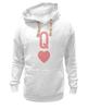 """Толстовка Wearcraft Premium унисекс """"Королева Сердец"""" - сердце, карта, queen, дама"""