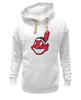 "Толстовка Wearcraft Premium унисекс ""Indians"" - бейсбол, cleveland, chief wahoo, major league baseball"