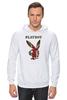 """Толстовка Wearcraft Premium унисекс """"Playboy Британский флаг"""" - плейбой, плэйбой, великобритания, зайчик, playboy"""