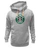 "Толстовка Wearcraft Premium унисекс ""Too Much Coffee"" - пародия, starbucks, parody, слишком много кофе"