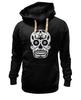 """Толстовка Wearcraft Premium унисекс """"Цветочный череп"""" - skull, череп, арт, цветы"""