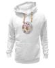 """Толстовка Wearcraft Premium унисекс """"Пионы и бабочки 2"""" - бабочки, цветы, весна, акварель, пионы"""