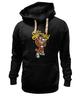 """Толстовка Wearcraft Premium унисекс """"gangsta tiger"""" - hip-hop, tiger, тигр, гангстер, gangster"""