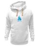 "Толстовка Wearcraft Premium унисекс ""Nirvana-blue"" - nirvana, монах, буддизм, lingam, yoga"