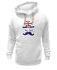 """Толстовка Wearcraft Premium унисекс """"Английский джентельмен"""" - джентельмен, усы, uk, великобритания, моноколь"""