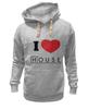 "Толстовка Wearcraft Premium унисекс ""i love House"" - сердце, любовь, сердечко, house, хаус, доктор, креативные надписи на футболках, i love"