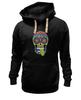 "Толстовка Wearcraft Premium унисекс ""Череп ""Рок-н-Ролл"""" - skull, череп, mexican skull"