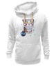 """Толстовка Wearcraft Premium унисекс """"Котик в снежинках."""" - новый год, зима, снег, котик, снежинки"""