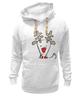 """Толстовка Wearcraft Premium унисекс """"Новогодняя фуфайка"""" - красивая, new year, white and snow-white, сказочная, christmas, reindeer"""