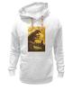 "Толстовка Wearcraft Premium унисекс ""Godzilla yellow"" - фильмы, динозавр, годзилла, godzilla, фатастика"