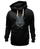 "Толстовка Wearcraft Premium унисекс ""Волк Узор"" - wolf, арт, волк, дизайн, узор"
