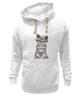 """Толстовка Wearcraft Premium унисекс """"Мяу мяу мяу"""" - кот, кошка, очки, хипстер, мяу"""