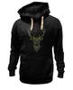 """Толстовка Wearcraft Premium унисекс """"Олень"""" - узор, олень, рога, deer"""