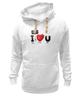 """Толстовка Wearcraft Premium унисекс """"Я люблю Тебя! """" - сердце, день святого валентина, i love you, я люблю тебя"""