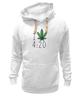 "Толстовка Wearcraft Premium унисекс ""Футболка ""4:20"""" - любовь, арт, cannabis, конопля, марихуана, каннабис"