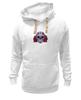 """Толстовка Wearcraft Premium унисекс """"Мексиканский череп"""" - череп, цветы, крест, тату, мексика"""