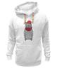 """Толстовка Wearcraft Premium унисекс """"Cat Hipster"""" - кот, лето, смешные, полоска, прикольные, очки, cat, дизайн, креатив, хипстер"""