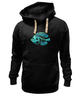 "Толстовка Wearcraft Premium унисекс ""Скелетон"" - skeleton, скелет, рыба, fish, neon, скелетон"