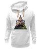 "Толстовка Wearcraft Premium унисекс ""Космос"" - арт, space, очки, хипстер, усы, hipster, mustache"