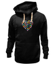 "Толстовка Wearcraft Premium унисекс ""Сердце"" - сердце, любовь, день святого валентина, валентинки"