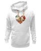 "Толстовка Wearcraft Premium унисекс ""Skull Art"" - skull, сердце, цветы, череп, heart"