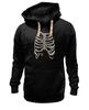 """Толстовка Wearcraft Premium унисекс """"Рёбра"""" - скелет, кости, рёбра"""