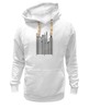 "Толстовка Wearcraft Premium унисекс ""Сити-код"" - арт, город, дизайн, city, код, barcode, урбанизм"