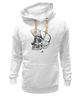 "Толстовка Wearcraft Premium унисекс ""DEAD HIPSTER"" - череп, крест, рисунок, face, хипстер"