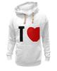 "Толстовка Wearcraft Premium унисекс ""I LOVE HIM"" - heart, i love, love is"