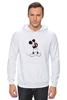 "Толстовка Wearcraft Premium унисекс ""Mickey Mouse Bloody Eyes On White"" - боль, смех, юмор, приколы, глаз, мультики, глаза, mouse, микки, анимация"