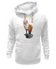 """Толстовка Wearcraft Premium унисекс """"Лисица"""" - животные, red, рисунок, fox, лиса, рыжая"""
