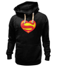 "Толстовка Wearcraft Premium унисекс ""Я люблю Супермена"" - супермен, комиксы, superman, супергерои"