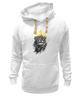 """Толстовка Wearcraft Premium унисекс """"Лев в короне"""" - king, корона, лев, царь зверей, crown"""