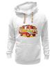 "Толстовка Wearcraft Premium унисекс ""Хиппи Уазик"" - сноуборд, hippie, хиппи, уаз"